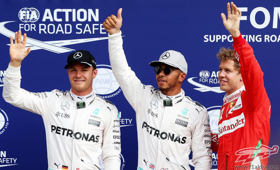 Alegría de Hamilton, Rosberg y Vettel en Monza