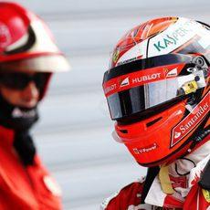 Kimi Räikkönen saldrá cuarto en Italia