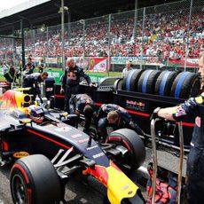 Max Verstappen se posiciona en parrilla de salida