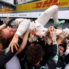 Nico Rosberg es el hombre del día en Monza