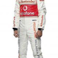 Jenson Button con sus nuevos colores
