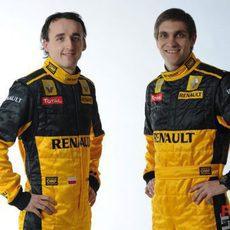 Robert Kubica y Vitaly Petrov