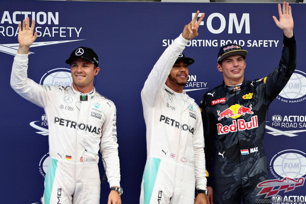 Hamilton, Rosberg y Verstappen saldrán por delante en Malasia