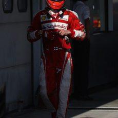 Kimi Räikkönen se queda a las puertas del podio