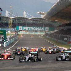 Salida del GP de Malasia 2016