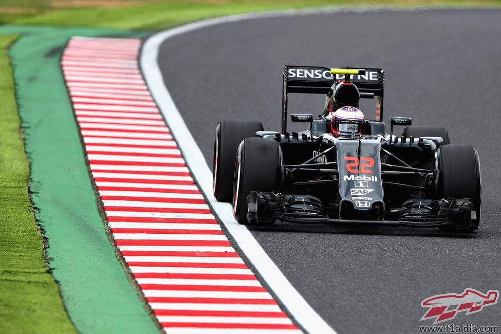 Jenson Button sigue el programa de McLaren