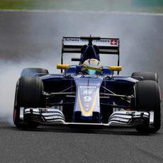 Pasada de frenada de Marcus Ericsson en Suzuka