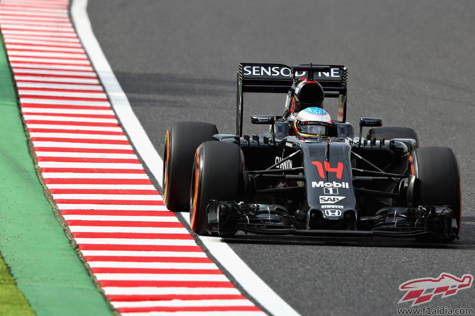 Bajo rendimiento de Fernando Alonso en clasificación