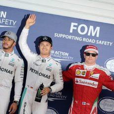 Rosberg, Hamilton y Räikkönen sonríen en Japón