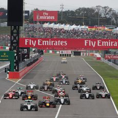 Salida del GP de Japón 2016