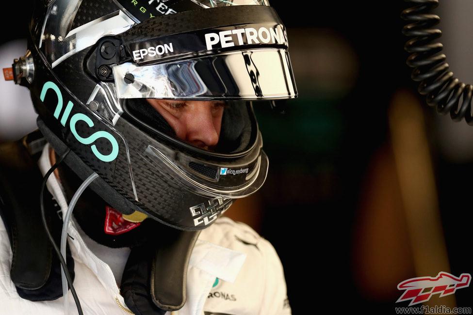 Nico Rosberg está listo para los entrenamientos