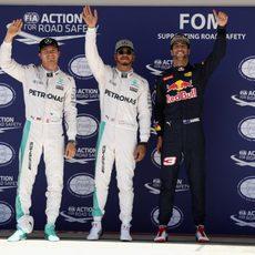 Hamilton consigue la pole en Austin; Rosberg y Ricciardo le siguen
