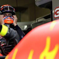 Max Verstappen se prepara para la Q3 en Brasil