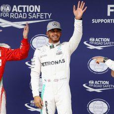 Hamilton, Rosberg y Räikkönen vuelan en Brasil