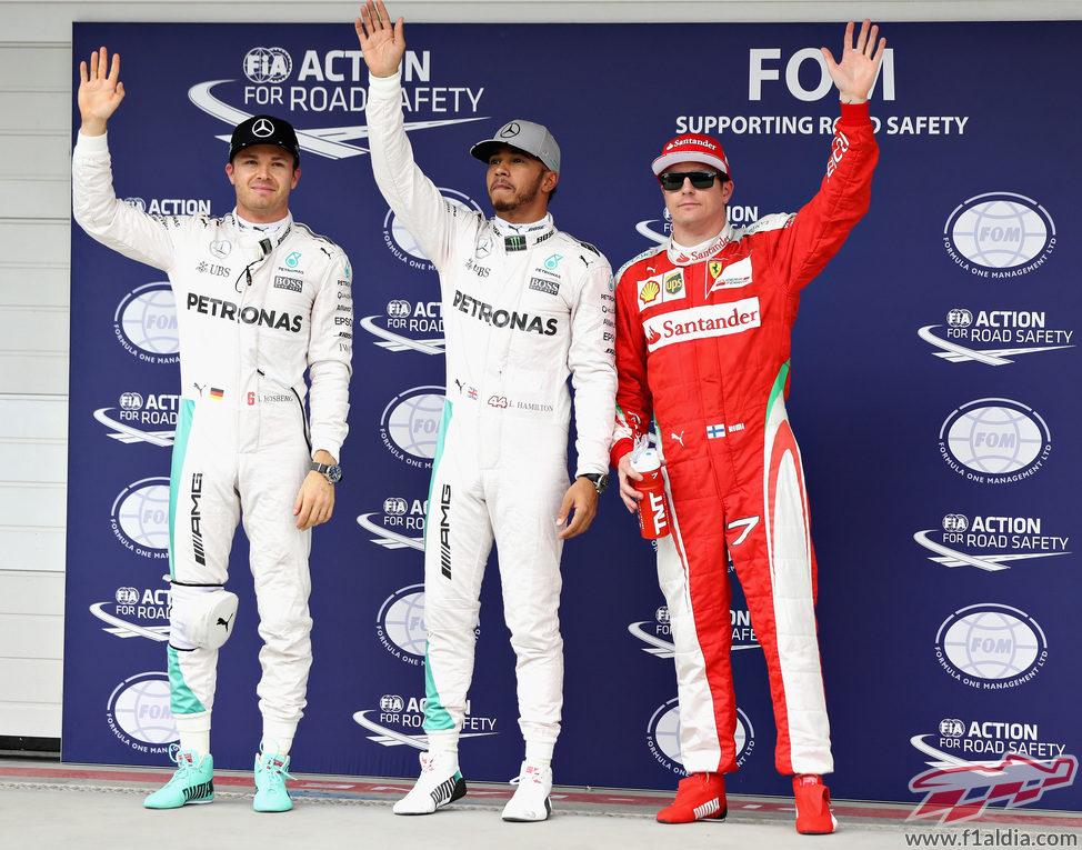 Hamilton se impone a Rosberg y Räikkönen en clasificación