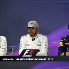 Rueda de prensa con Hamilton, Rosberg y Verstappen