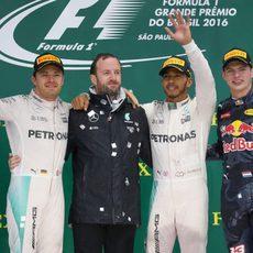 Podio del GP de Brasil 2016