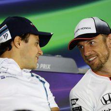 Jenson Button y Felipe Massa se despiden de la F1