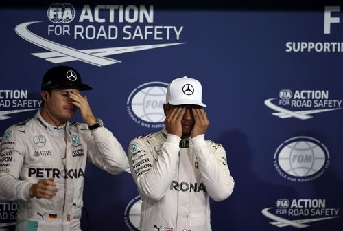 El cansancio en Hamilton y Rosberg es evidente