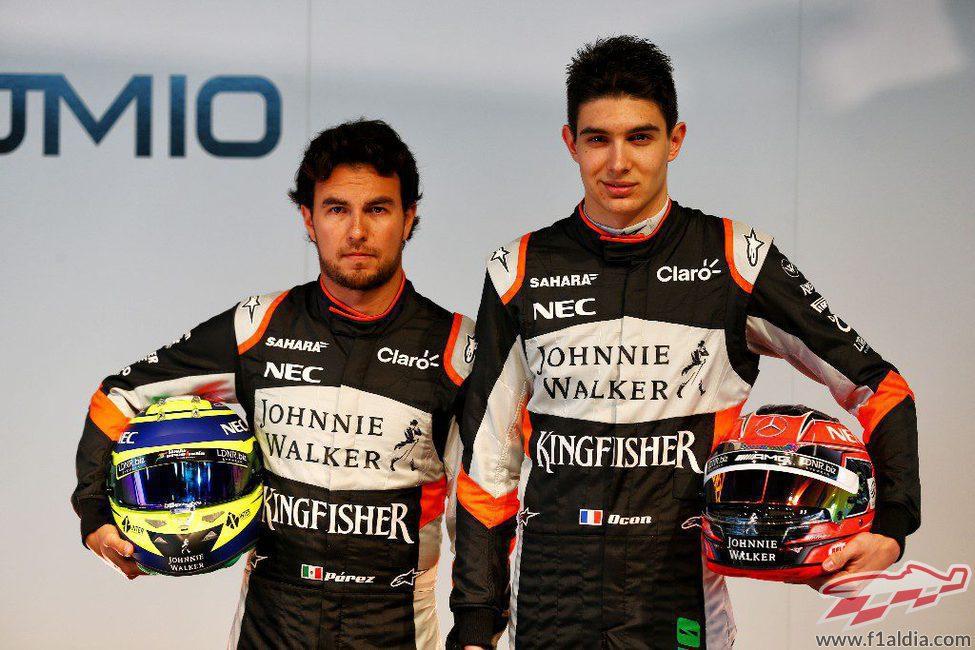 Sergio Pérez y Esteban Ocon
