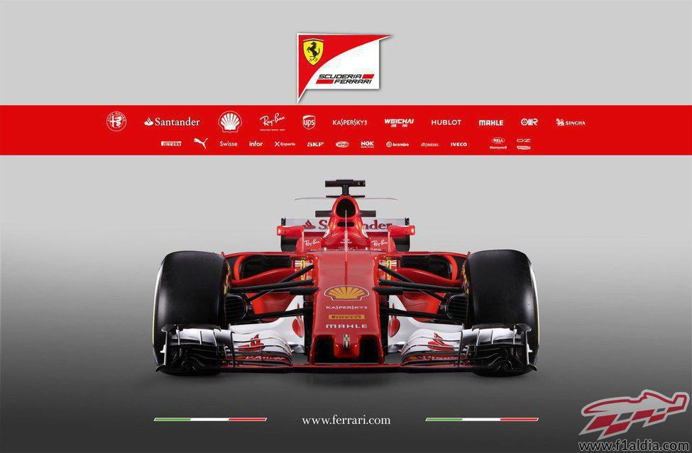La delantera del Ferrari SF70H
