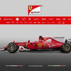 Lateral izquierdo del Ferrari SF70H