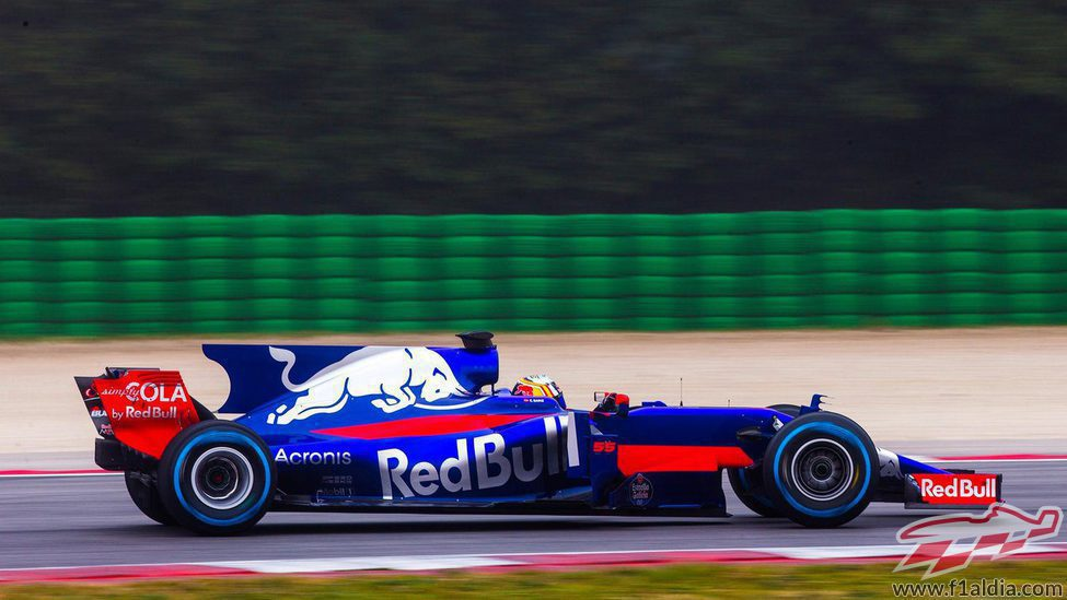 Lateral derecho del STR12 en el circuito de Misano