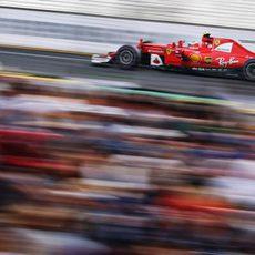 Kimi Räikkönen se estrena este año en Albert Park