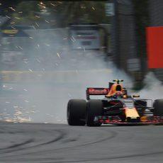 Pasada de frenada de Max Verstappen en los libres
