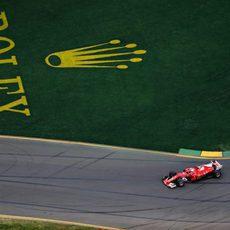 Sebastian Vettel desde arriba