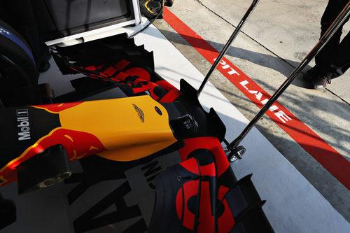 Alerón delantero del Red Bull