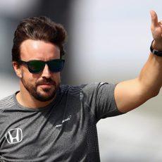 Fernando aguantó a Ocon durante gran parte de la carrera