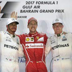 Podio del GP de Baréin 2017
