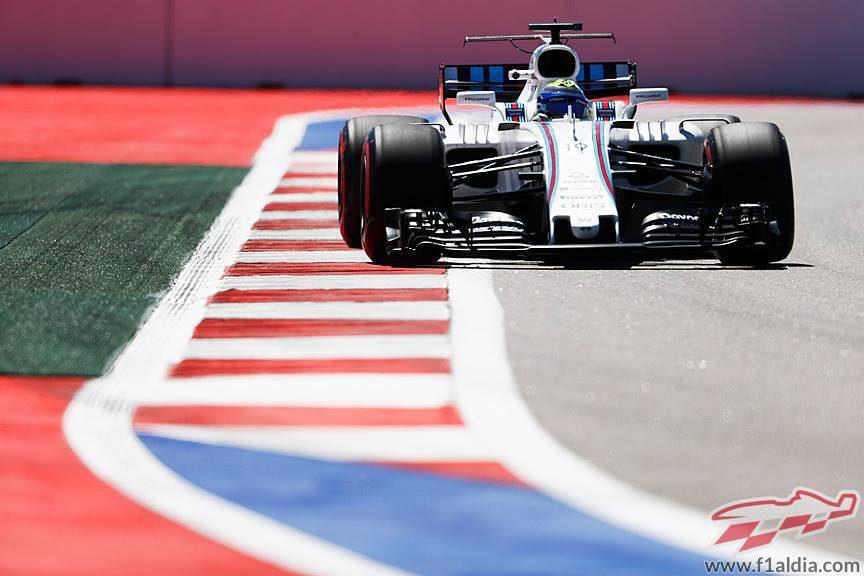 Felipe Massa a los mandos del Williams en Sochi