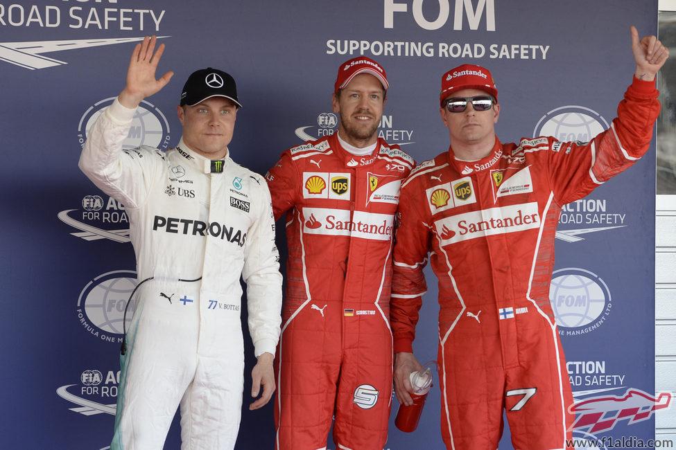 Vettel, Räikkönen y Bottas acaban la clasificación en Sochi