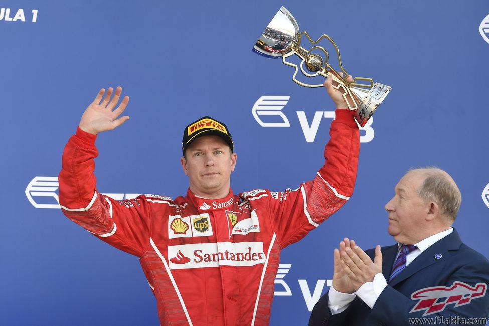 Kimi volvió a ser competitivo