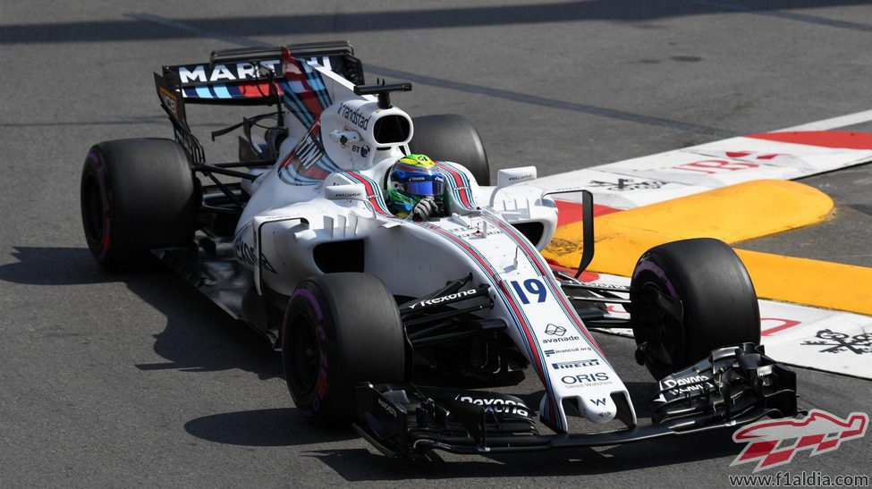 Felipe Massa rueda en Mónaco