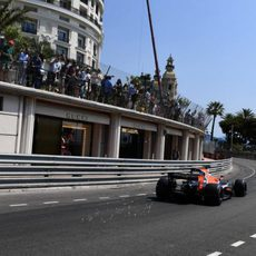 Jenson Button en las calles de Mónaco
