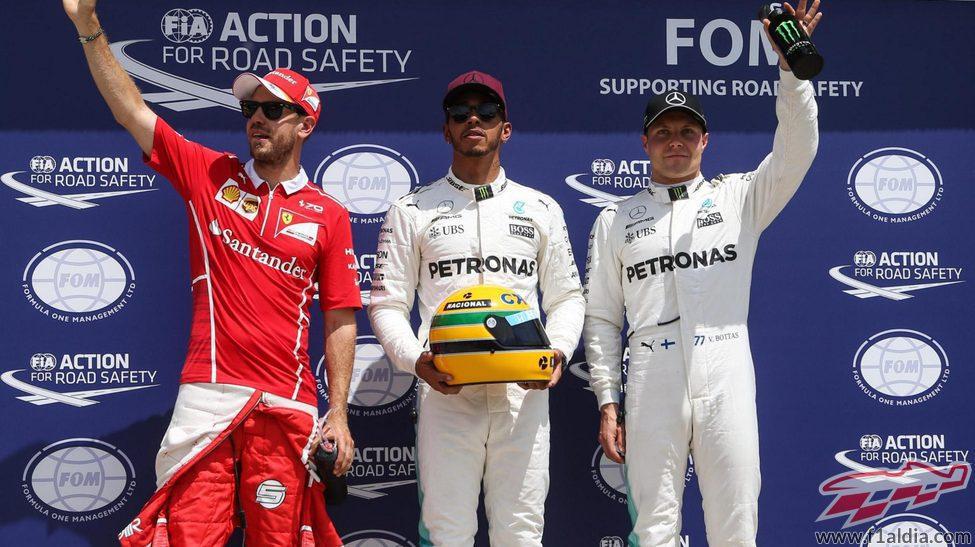 Hamilton, Vettel y Bottas, los más rápidos en Canadá