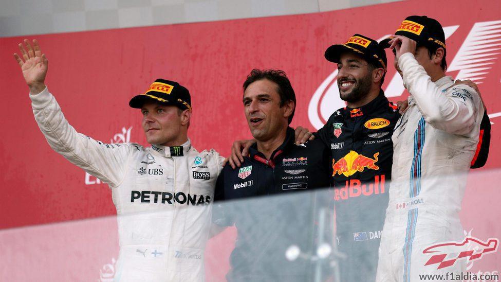 Ricciardo, Bottas y Stroll, los hombres del podio en Bakú