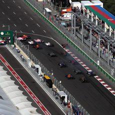 Salida del GP de Azerbaiyán 2017