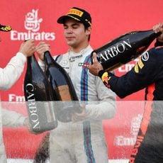 Champagne para los tres más rápidos en Bakú