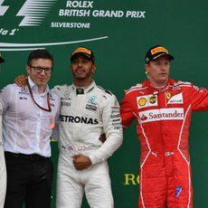 Podio del GP de Gran Bretaña