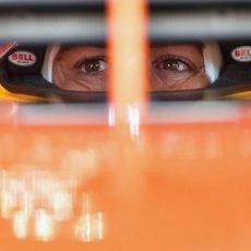 Fernando Alonso en Q3 en Hungría