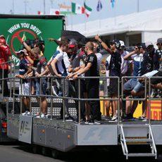 Drivers' Parade del GP de Hungría 2017