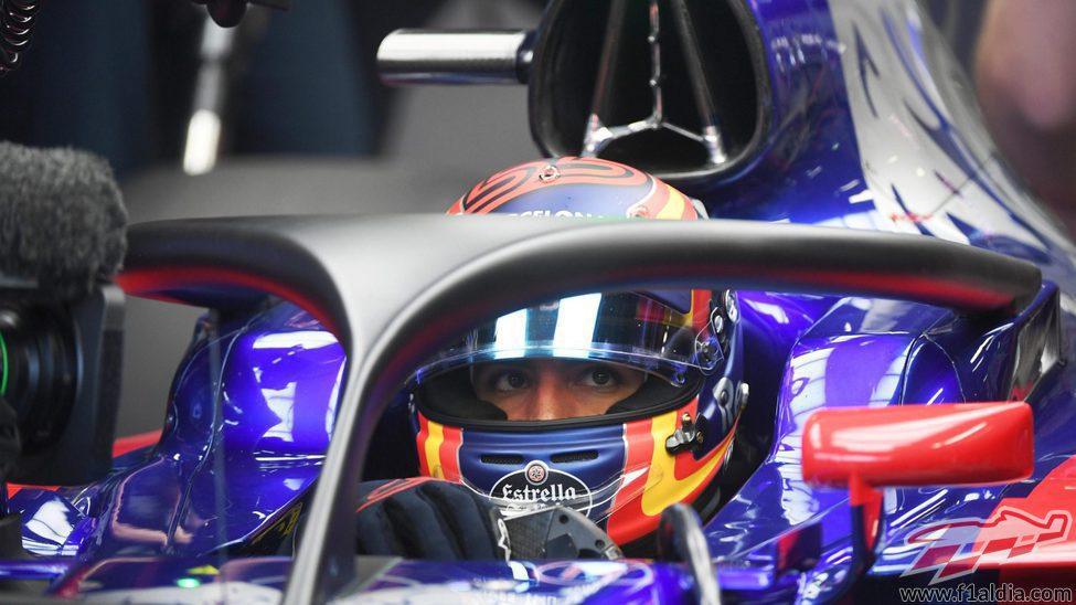 Carlos Sainz prueba el 'halo'