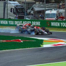 Magnussen y Vettel en Monza