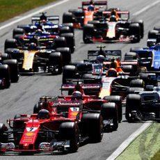 Salida del GP de Italia 2017