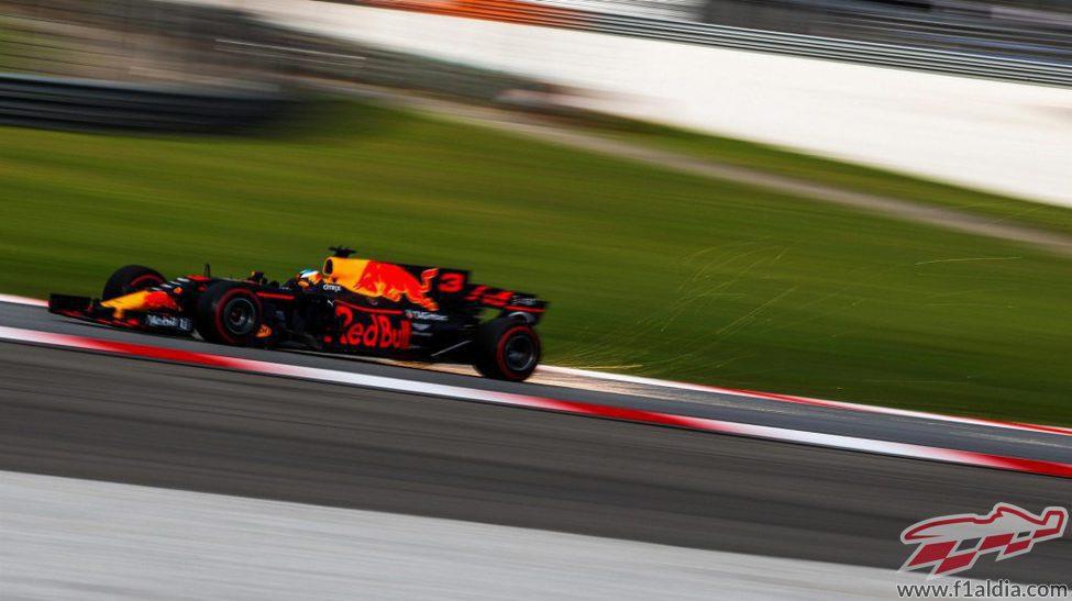 Daniel Ricciardo durante la clasificación de Malasia