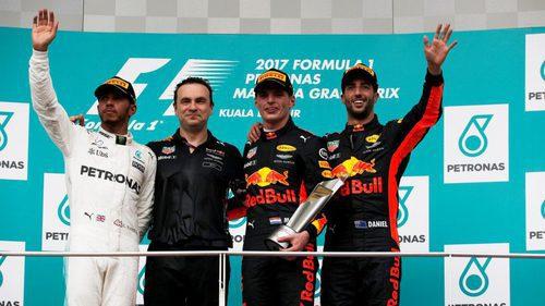El podio de Malasia